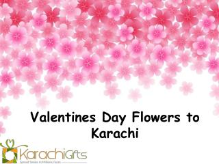 Valentines Day Flowers to Karachi