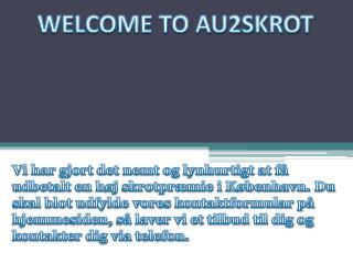 Velkommen til Au2Skrot