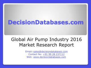 Air Pump Market Research Report: Global Analysis 2020-2021