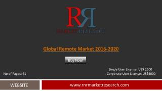 Remote Market Global Forecasts for 2016 – 2020