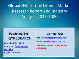 Global Hybrid Uav Drones Market 2015 Industry Analysis, Research, Trends, Growth and Forecasts