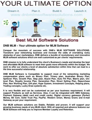 Dmlm0004 dnb mlm – your ultimate option for mlm software 2015 01 22
