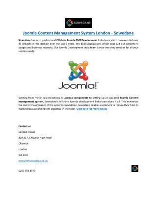 Joomla Content Management System London - Sowedane