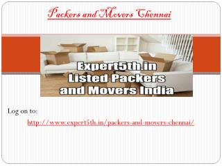 Expert5th Packers and Movers in Chennai  - Customized relocation products service