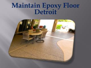 Maintain Epoxy Floor Detroit