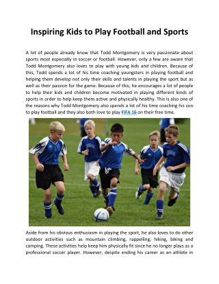 Inspiring Kids to Play Football and Sports
