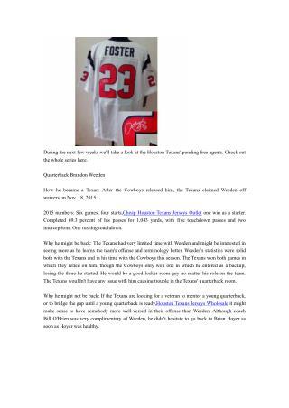 A look at Texans pending free agent Brandon Weeden
