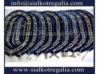 Blue Lodge Silver chain collar