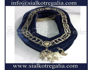 Blue Lodge chain collar silver plated