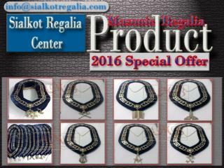 Masonic chain collar Blue Lodge silver
