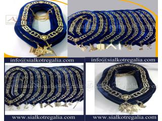 Blue Lodge Mason Chain collar Silver