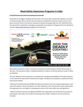 Road Safety 2016 - Time for Action