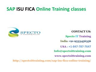 online training on sap isu fica in usa,uk