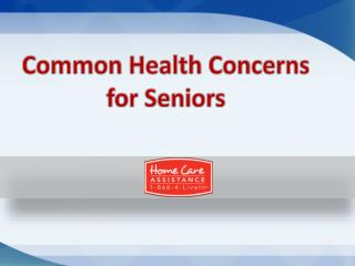 Common health concerns for seniors