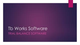 Tb works software | Features
