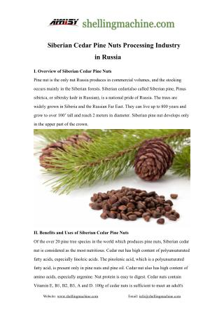 Russian Siberian Cedar Pine Nuts Processing Industry-Shelling,Pressing