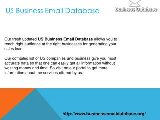 US Business Email Database