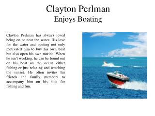 Clayton Perlman