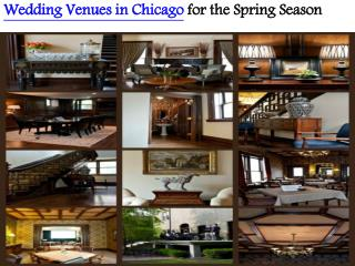 Wedding venues in Chicago for the Spring Season