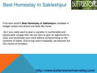 Best Homestay In Sakleshpur