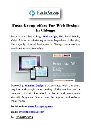 Fusta Group offers For Web Design In Chicago