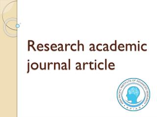 Research academic journal article