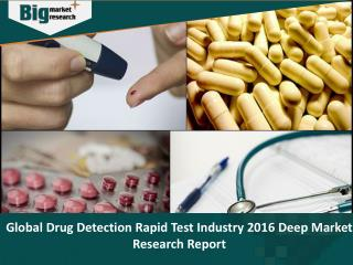 Drug Detection Rapid Test Industry 2016 Deep Market Research Report