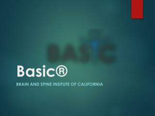 Basicspine Surgical and non Surgical Treatment Services in California