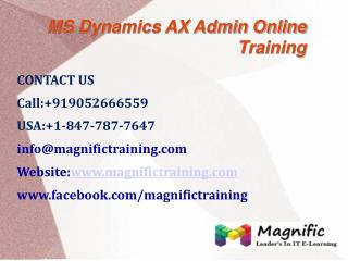 Microsoft Dynamics Ax Admin Online Training in UK