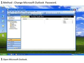 How to Change Microsoft Outlook(Hotmail) password?