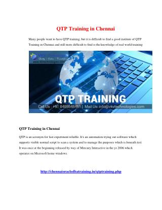 qtp training in chennai