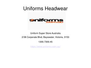 Find Best Uniforms Headwear Online - Australia