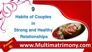 9 Habits of Couples in Strong and Healthy Relationships