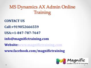 Microsoft Dynamics Ax Admin Online Training in USA