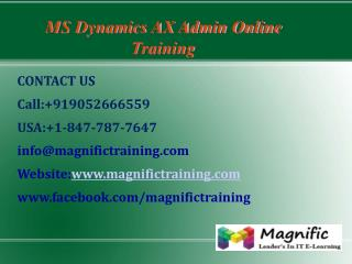 Microsoft Dynamics Ax Admin Online Training in Australia