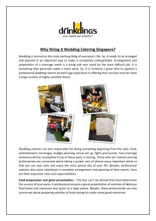 Why Hiring A Wedding Catering Singapore?