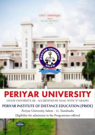 Template Periyar University | Distance Education