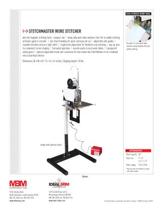 MBM Stitch Master at US$ 2,275.00 - Printfinish.com