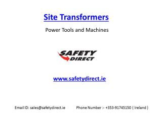 Site Transformers in Ireland at SafetyDirect.ie
