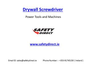 Drywall Screwdriver in Ireland at SafetyDirect