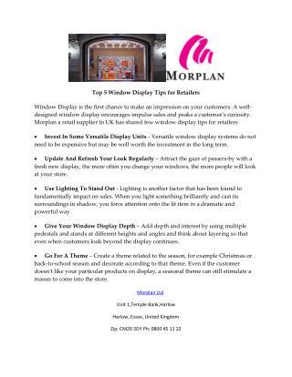 Top 5 Window Display Tips for Retailers