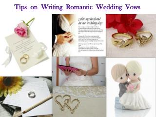 Tips on Writing Romantic Wedding Vows