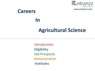 Careers In Agricultural Science