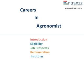 Careers In Agronomist