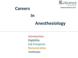 Careers In Anesthesiology
