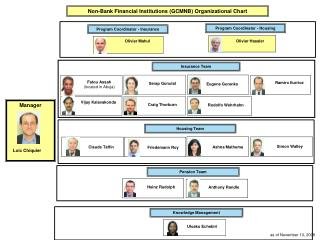 Non-Bank Financial Institutions GCMNB Organizational Chart