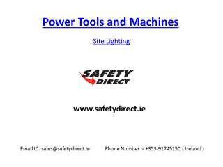Site Lighting in Ireland at safetydirect.ie