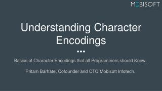 Understanding Character Encodings