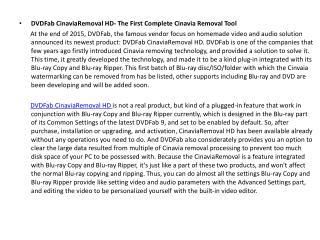 DVDFab CinaviaRemoval HD- The First Complete Cinavia Removal Tool