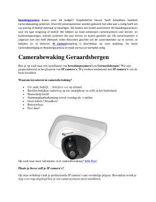 Kwalitatieve bewakingscamera's Voor uw winkel en Kantoor